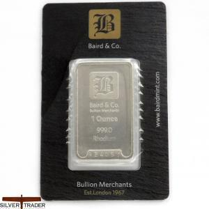 Rhodium 1 oz Security Sealed Rhodium Bullion Bar