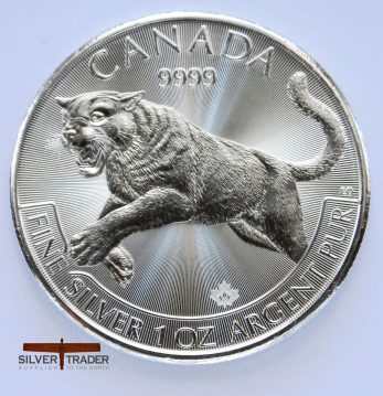 2016 Canadian Cougar 1 ounce Silver bullion Coin