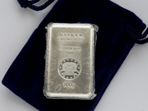 Geiger 100 Gram Security Line 100g Silver Bullion Bar