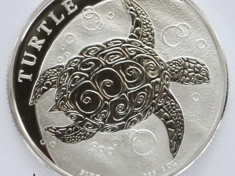 2016 Hawksbill Turtle 1 oz New Zealand Silver Bullion Coin