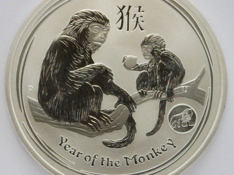 2016 Australian year of the Monkey Privy 1 oz Silver Bullion Coin