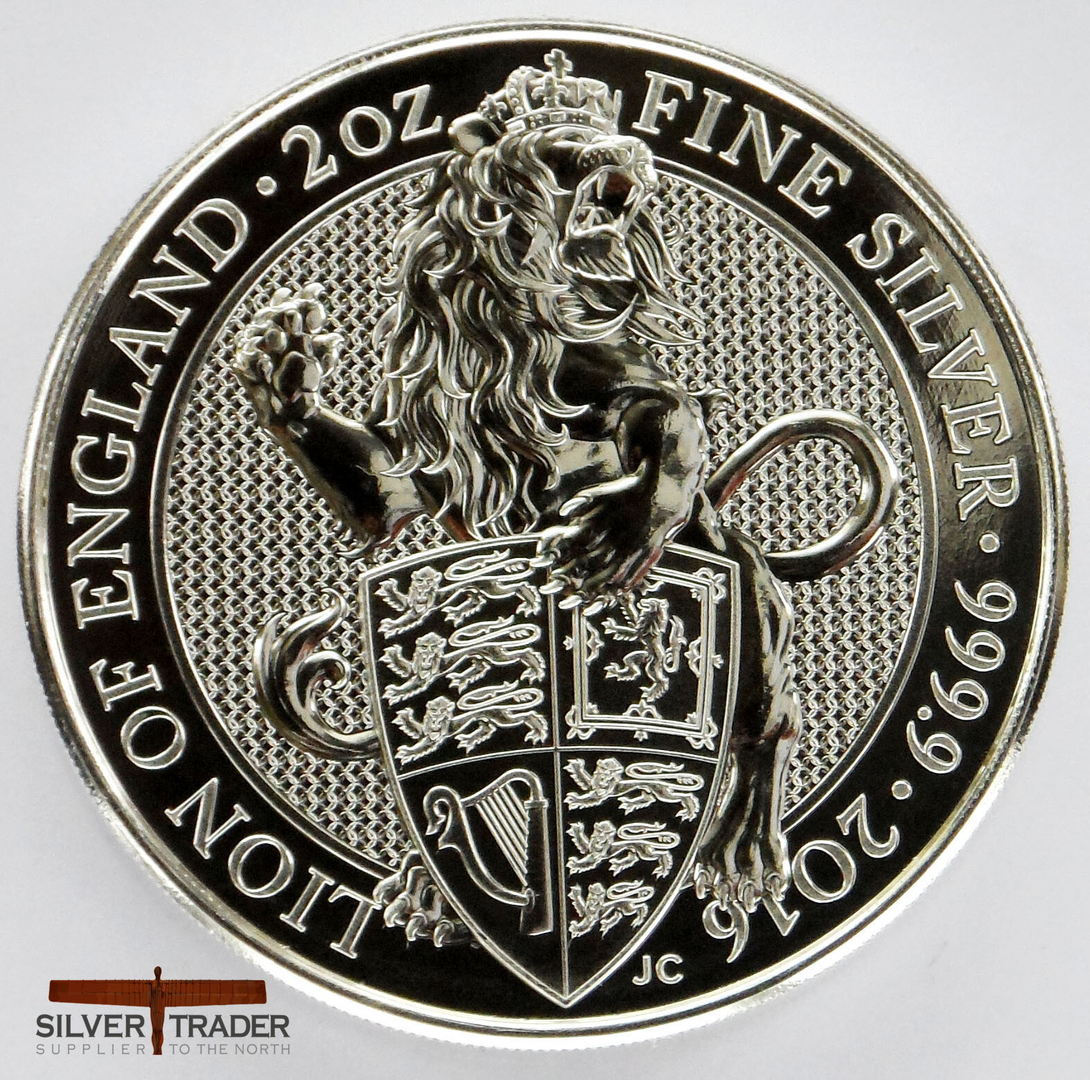 2016 Lion of England Queens Beasts 2 ounce bullion Coin