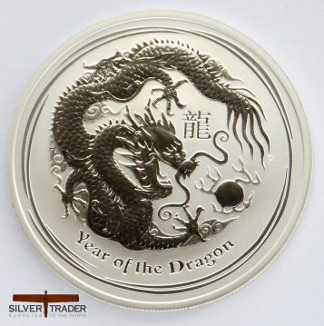2012 Australian year of the Dragon 1 ounce Silver Bullion Coin