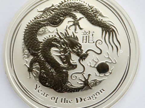 2012 Australian year of the Dragon 1 oz 999 Silver Bullion Coin