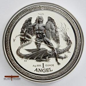2016 Angel 1 ounce Isle of Man Silver Bullion Coin