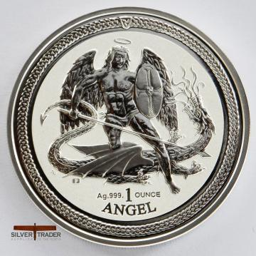 2016 Isle of man Angel 1 ounce silver bullion coin
