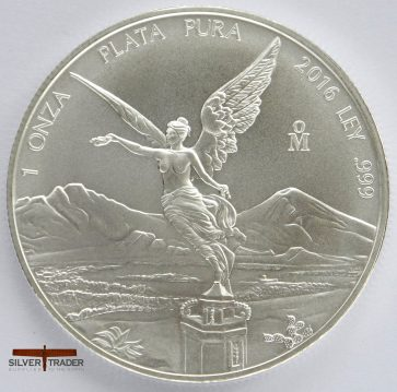 2016 Mexican Libertad 1 oz 999 Silver Bullion Coin