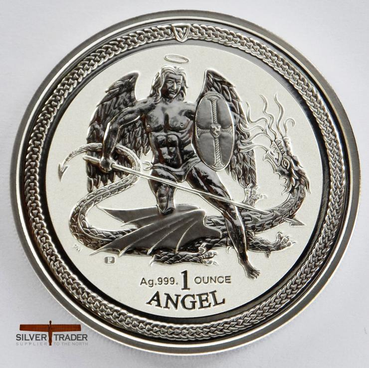 The 2016 Isle of Man Angel silver bullion coin