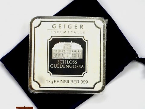 Geiger 1 Kilo Security Line 1 Kilogram Silver Bullion Bar