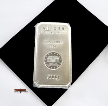Geiger 500 Gram 999 Security Line Silver Bullion bar