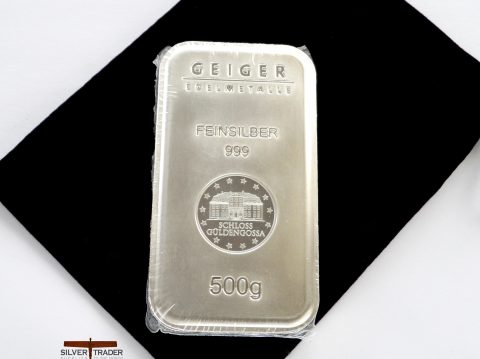 Geiger 500 Gram Security Line 500g Silver Bullion Bar