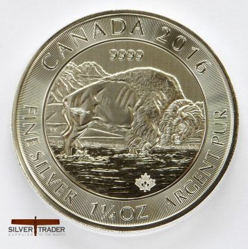 2016 Canadian Bison 38 gram 999 Silver bullion Coin