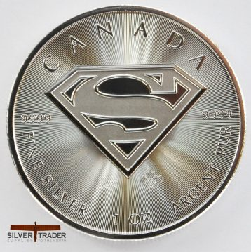 2016 Canadian Superman Shield 1 ounce Silver bullion Coin