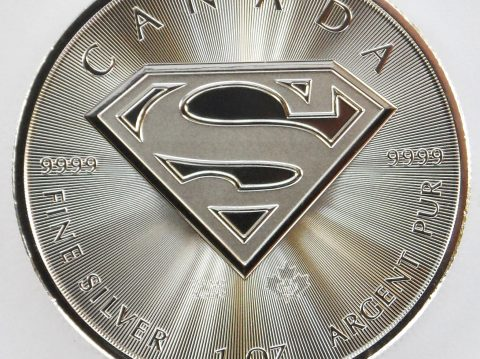 2016 Canadian Superman Shield 1 oz Silver Bullion Coin