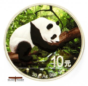 2016 Chinese Panda 30 gram Coloured silver bullion coin