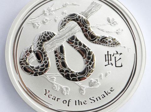 2013 Australian year of the Snake 1 oz 999 Silver bullion Coin