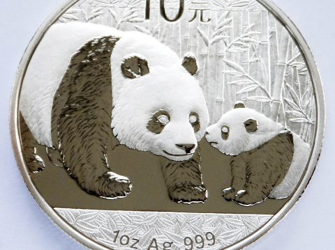 2011 Chinese Panda 1 ounce silver bullion coin