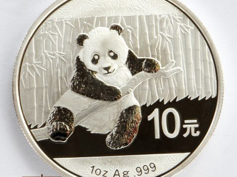 2014 Chinese Panda 1 oz 999 Silver Bullion Coin