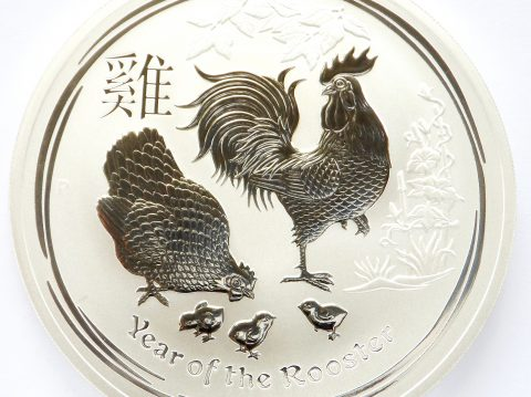2017 Australian 1 oz Year of the Rooster Silver Bullion Coin