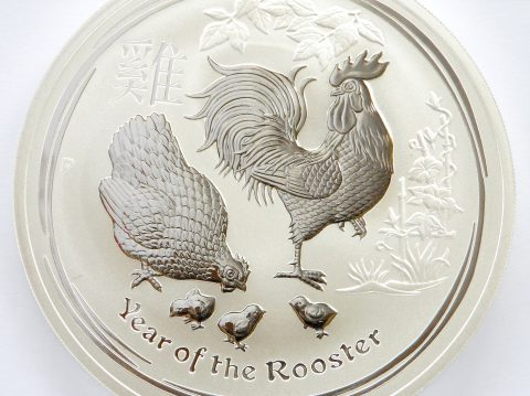 2017 Australian 10 oz Year of the Rooster Silver Bullion Coin