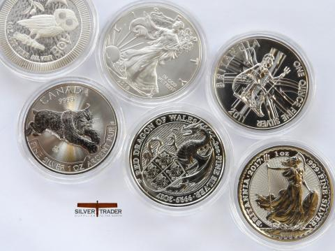 Second Grade 999 Silver Bullion Coins with slight scratches or milk marks