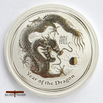 2012 Australian year of the Dragon 1/2 ounce Silver Bullion Coin