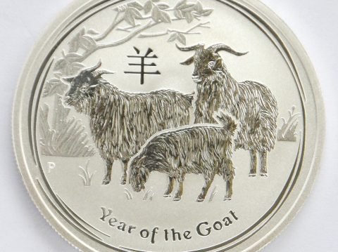 2015 Australian year of the Goat 1/2 ounce bullion coin