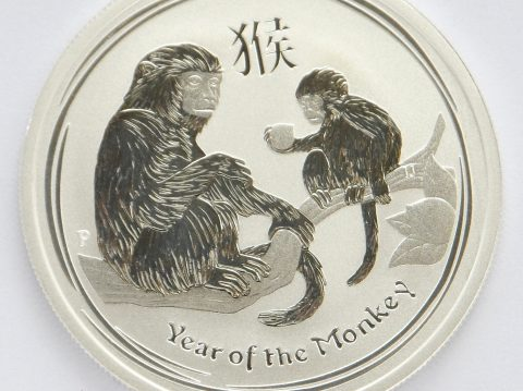 2016 Australian year of the Monkey 1/2 ounce Silver Bullion Coin