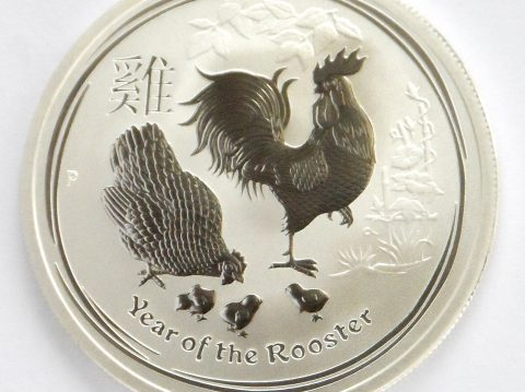 2017 Australian year of the Rooster 1/2 ounce Silver Bullion Coin