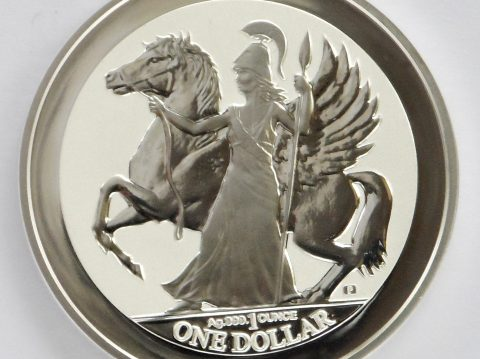 2017 Virgin islands Pegasus 1 ounce silver bullion coin