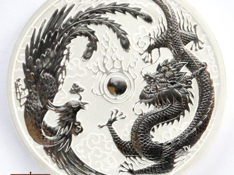 2017 Australian Dragon and Phoenix 1 ounce Silver Bullion Coin