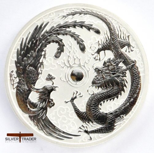 2017 Australian Dragon and Phoenix 1 oz Silver Bullion Coin