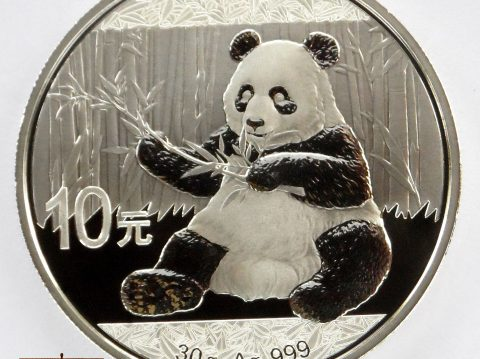 2017 Chinese Panda 30 gram pure silver bullion coin