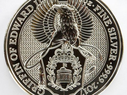 2017 Queens Beasts 2 oz Griffin Silver Bullion Coin