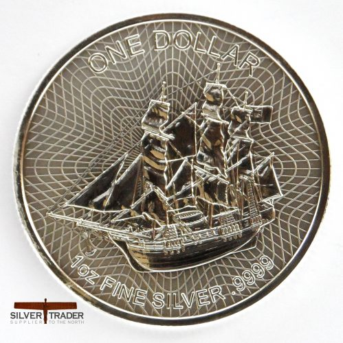 2017 Bounty 1 ounce Cook Island Silver Bullion Coin