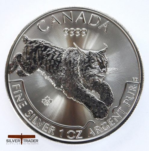 2017 Canadian Lynx 1 oz Silver Bullion Coin