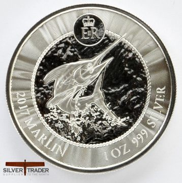 2017 Cayman Islands Marlin 1 ounce 999 pure silver Bullion coin