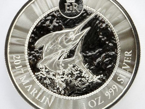 2017 Cayman Islands Marlin 1 oz Silver Bullion Coin