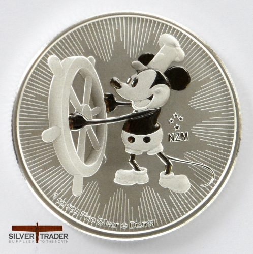 2017 Steamboat Willie 1 oz New Zealand Silver Bullion Coin