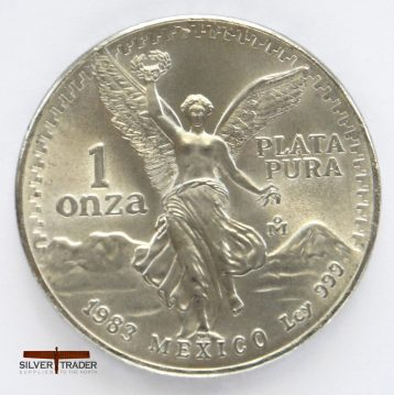 1983 Mexican Libertad 1 ounce Silver bullion coin