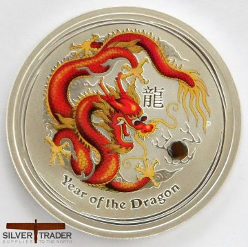 The 2012 Australian year of the Red Dragon half ounce Silver bullion coin