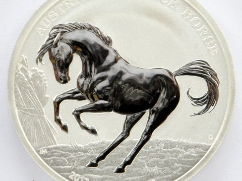 2017 Australian Stock Horse 1 oz 999 Silver Bullion Coin