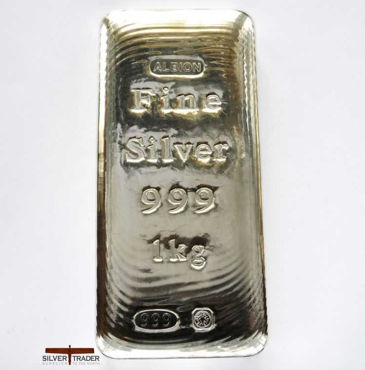 2018 Albion 1 kilo Sheffield Hallmarked Silver Bullion Bar