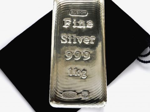 2017 Albion 1kg Sheffield Hallmarked Silver Bullion Bar