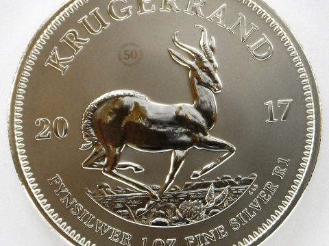 2017 South African Krugerrand 1 oz premium Silver Bullion Coin