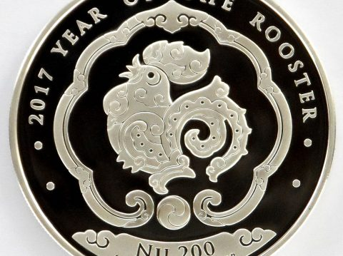The 2017 Bhutan Lunar Rooster 1 ounce Silver Bullion Coin