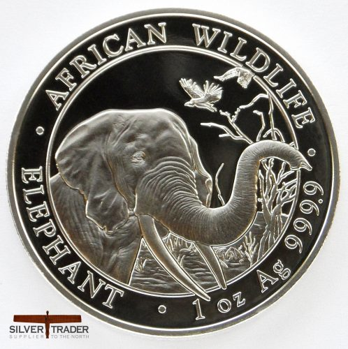 2018 Somalian Elephant 1 oz 999 Silver Bullion Coin