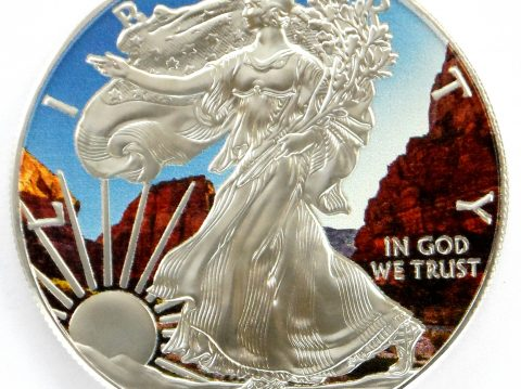 2017 American Eagle 1 oz Coloured Grand Canyon Silver Bullion Coin
