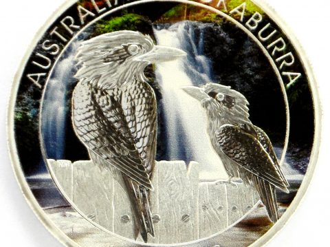 2017 Australian 1 oz kookaburra Coloured Silver Bullion Coin