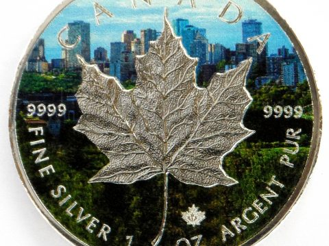 2017 Canadian Maple Leaf 1 oz Coloured Toronto Silver Bullion Coin